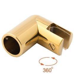 End Ø 19 mm Shower Support  / Brass Polish