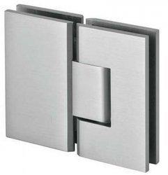 Frameless Door 180° Spring Hinge  (wall-glass) / Satin, Polish