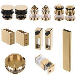 Glass Shower  Sliding Door System / Brass Polished