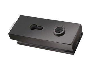 Single-Action Black Loft Lock  prepared for Standard Cylinder and Handle