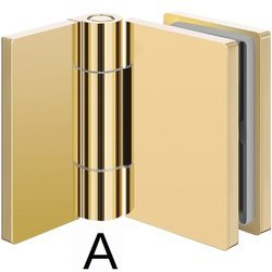Wall-Glass  Hinge S101 with Masking Caps/ Brass Polish