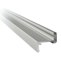 Z type Profile Set for Glass Door Frame, H=2300 mm / Satin, Silver