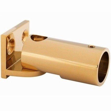 Ajustable Round Ø 19 mm Connector for Stabilizer (wall-raililg) / Brass Polish