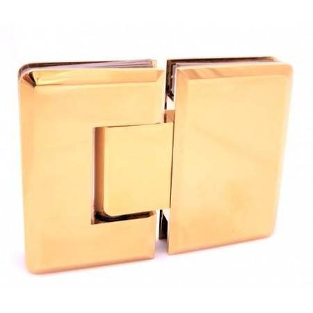 Brass Polish  Glass Shower Hinge with hidden screws/ Brass Polish