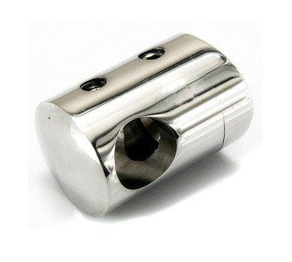 Curved Back Crossbar Holder for Ø8 pipe / Ø33,7 mm/ Slim Size/  POLISH