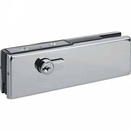 Frameless Bottom Lock with YALE Cylinder / Satin, Silver