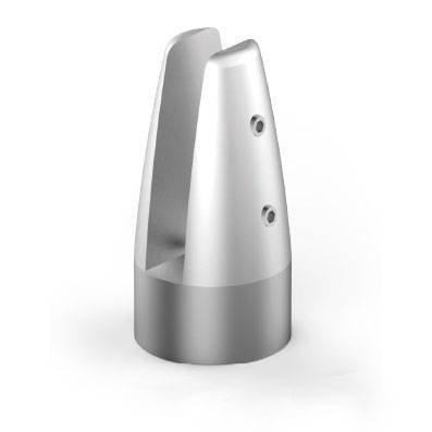 Glass Balustrade Minipost / H=110 mm/ Aluminium / Satin