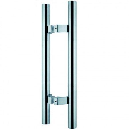 Glass Door Handle,/Satin, L=600 mm